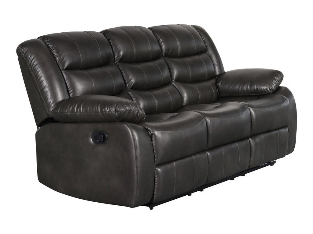 Bennet Casual Manual Motion Sofa with Drop Down Table and Faux Leather Look  by Standard Furniture at Wayside Furniture
