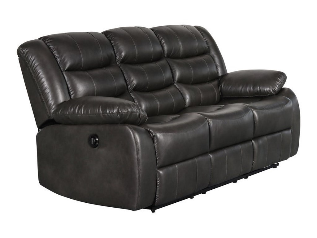 Casual Power Motion Sofa with Drop Down Table and Faux Leather Look ...