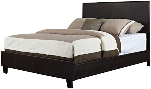 Standard Furniture Bolton Queen Upholstered Platform Bed with Topstitched Panels