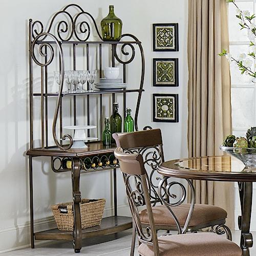 Standard Furniture Bombay Ornate Baker's Rack
