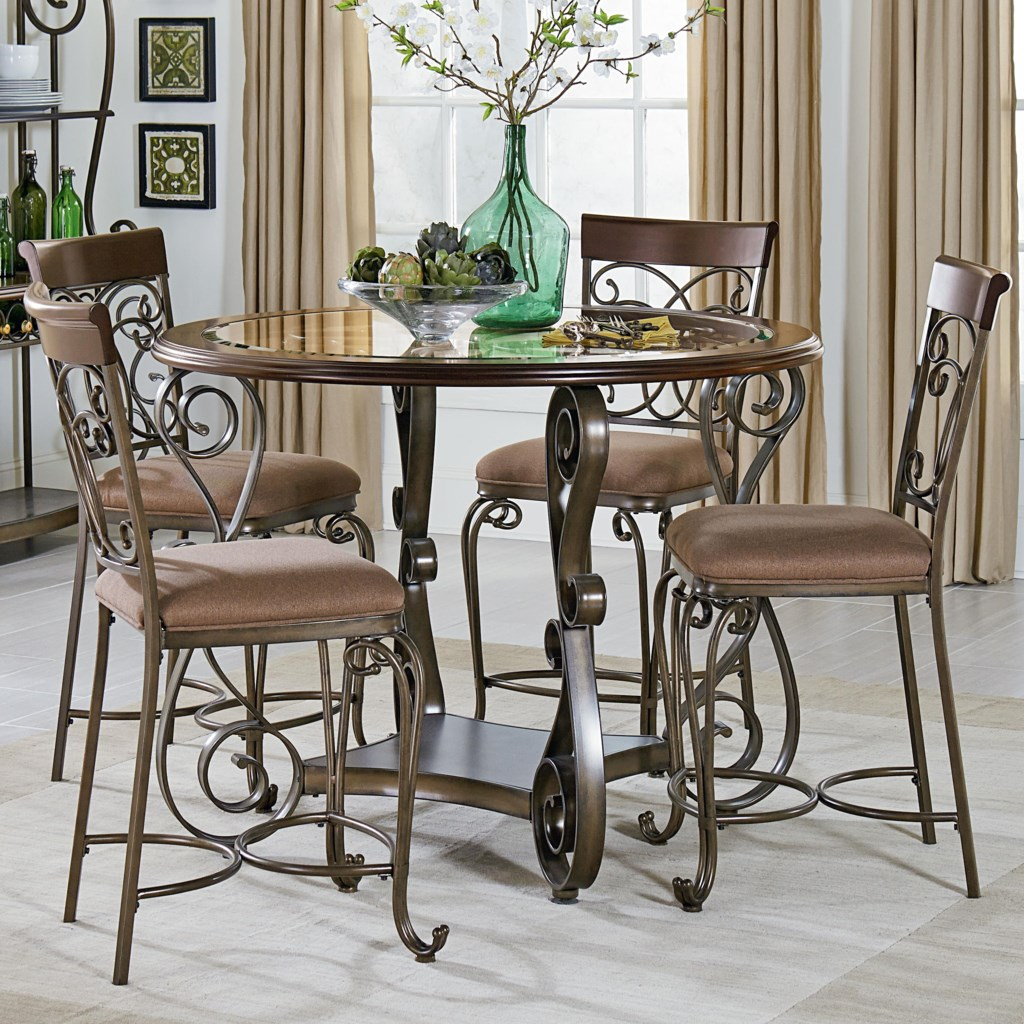 standard furniture bombay round counter height table and chair set