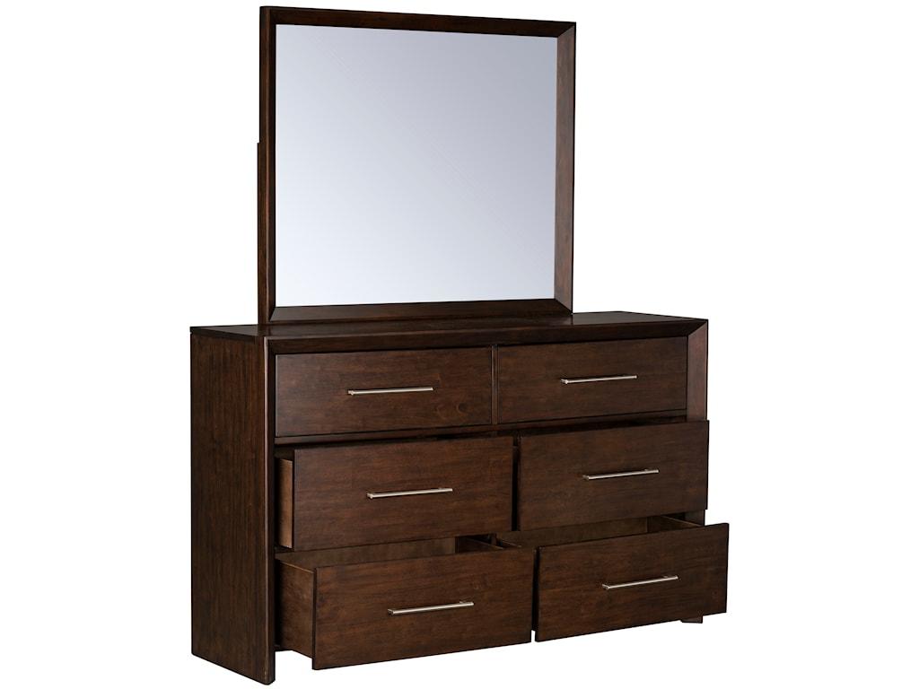 Standard Furniture BrentwoodDresser and Mirror Combination