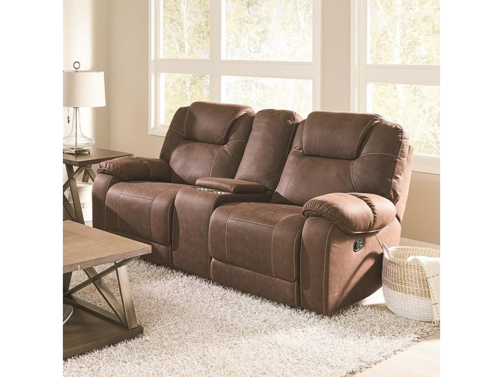 Standard Furniture BurbankManual Reclining Console Loveseat
