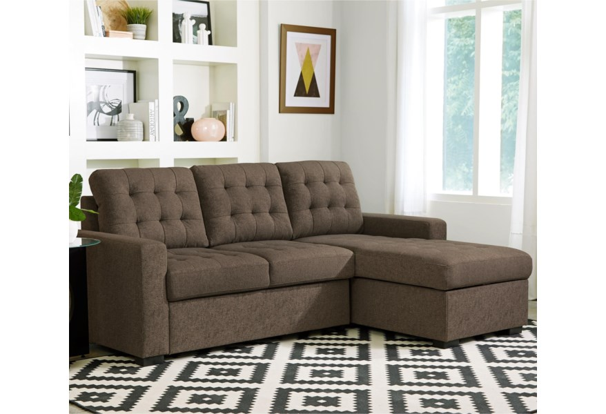 Standard Furniture Cadence Sectional Sleeper Sofa with Right ...