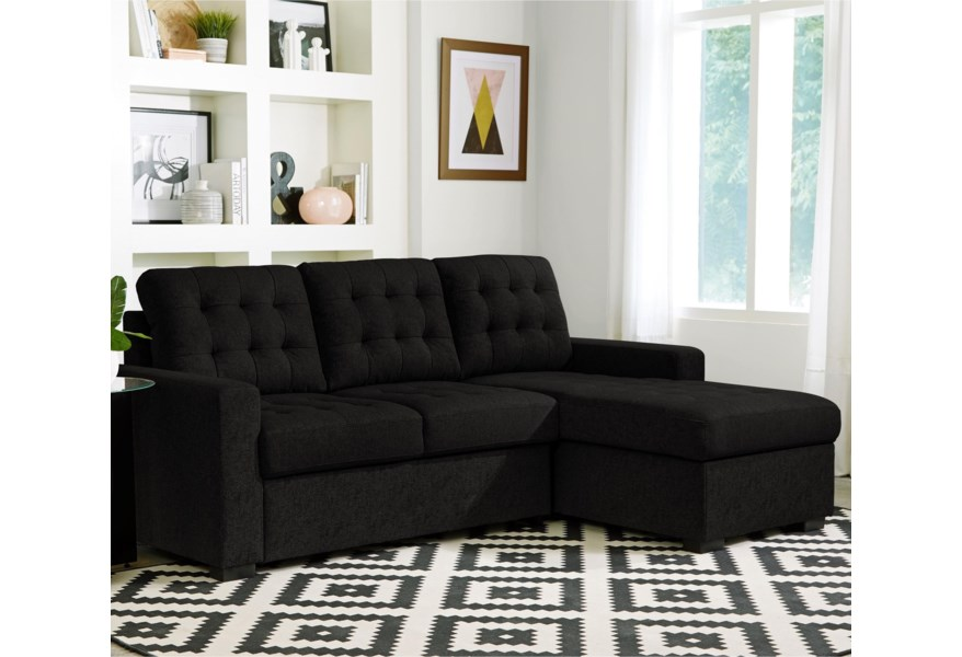 VFM Signature Cadence Sectional Sleeper Sofa with Right Arm ...