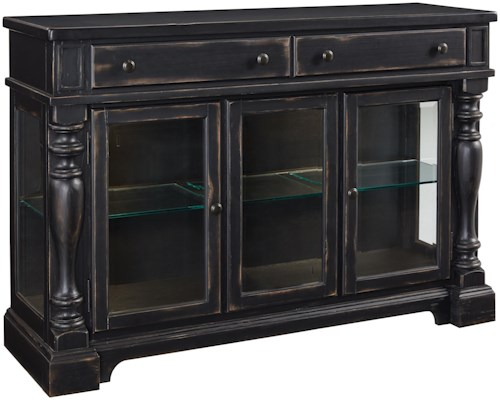 Standard Furniture Cambria Distressed Buffet with Turned Pilasters