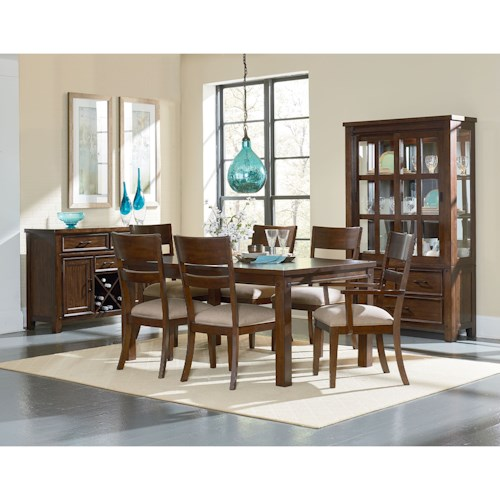 Standard Furniture Cameron Formal Dining Room Group with Leg Table