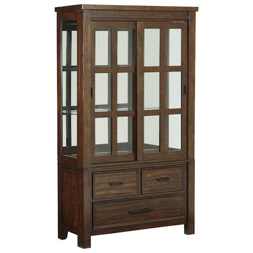 Standard Furniture Cameron Rustic Buffet and Hutch