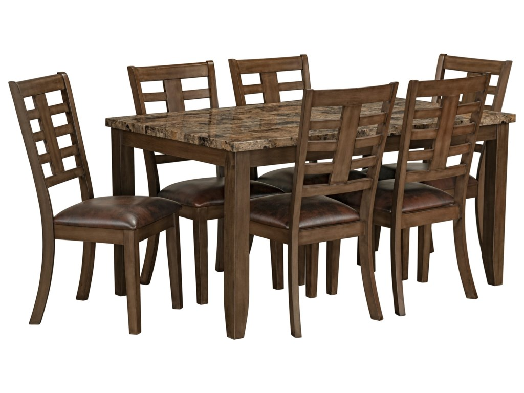 Standard Furniture Canaan Brown7-Piece Dining Table & Chair Set