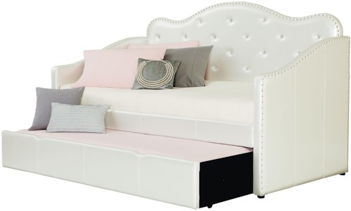 Standard Furniture Caroline Twin Upholstered Daybed with Trundle