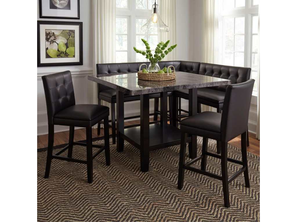 Standard Furniture Caspian6 Piece Counter Height Table and Chair Set