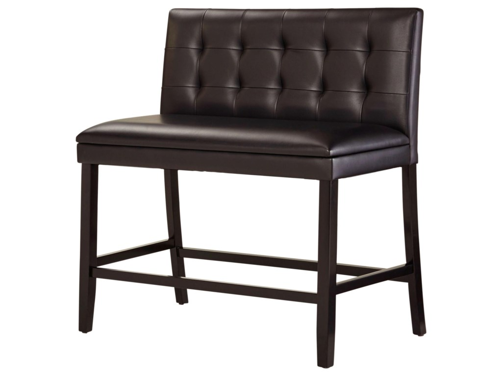 Standard Furniture Caspian 12115 Counter Height Bench With Faux Leather Seat Dunk Bright Dining Benches