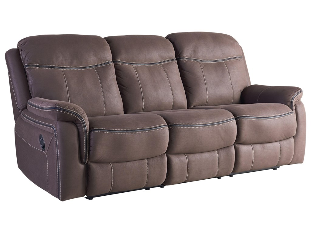 Standard Furniture Champion 4030393 Taupe Faux Leather Reclining