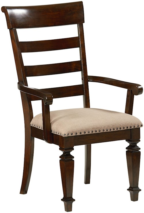 Standard Furniture Charleston Arm Chair with Upholstered Seat