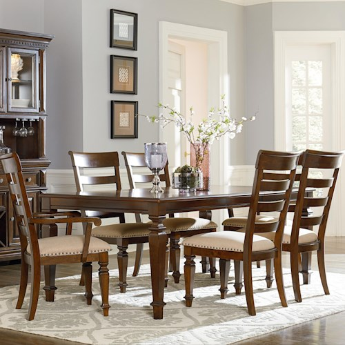 Standard Furniture Charleston Dining Table with Legs and 18