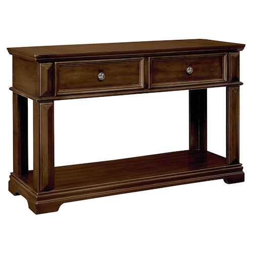 Standard Furniture Charleston Traditional Console Table with Crown Molding