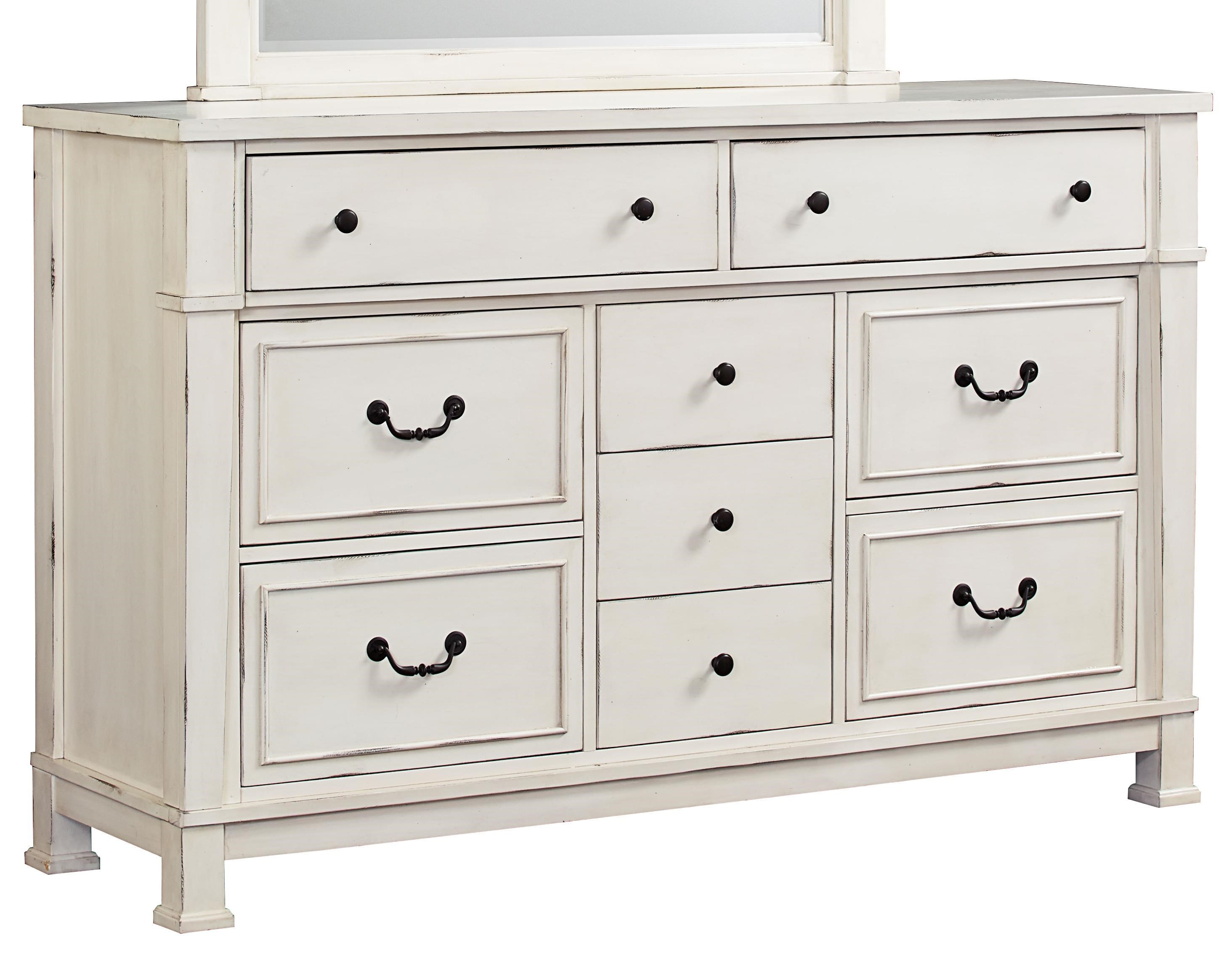 Standard Furniture Chesapeake Bay Vintage White Dresser