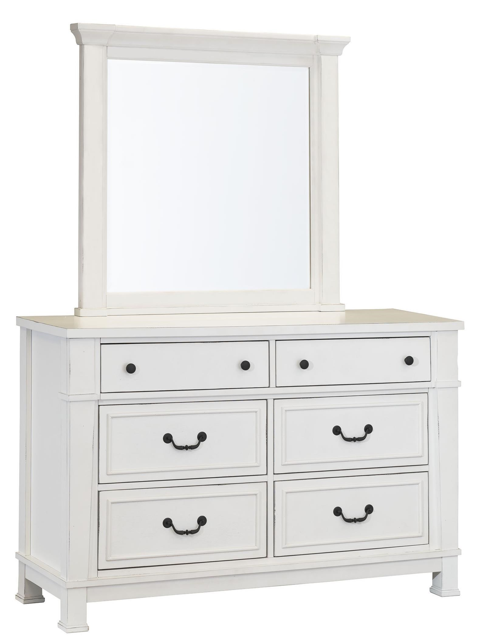 Standard Furniture Chesapeake Bay Youth Bedroom Vintage White Dresser And Mirror Set Royal Furniture Dresser Mirror Sets