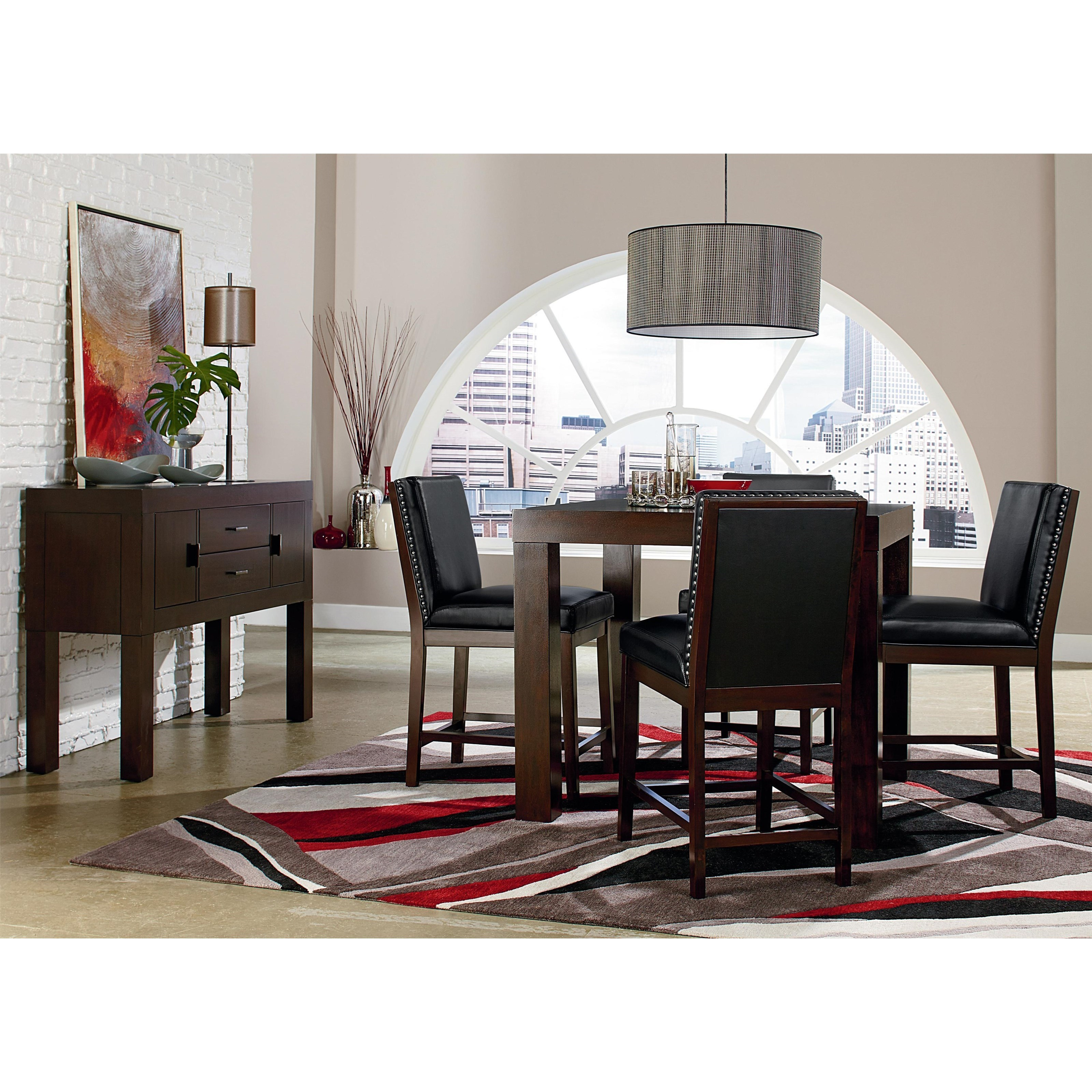 Standard Furniture Couture Elegance Counter Height Square Table And Stool  Set