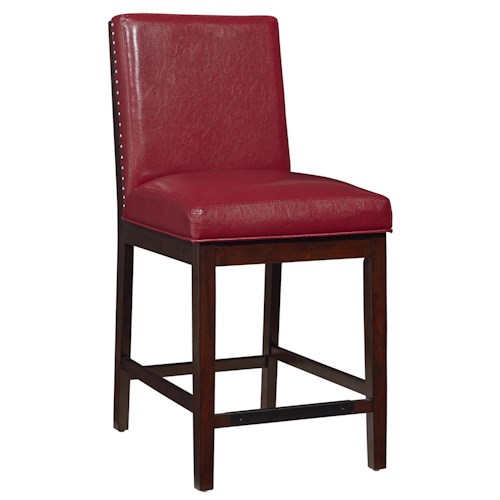 Standard Furniture Couture Elegance Upholstered Counter Height Chair with Nail Head Trim