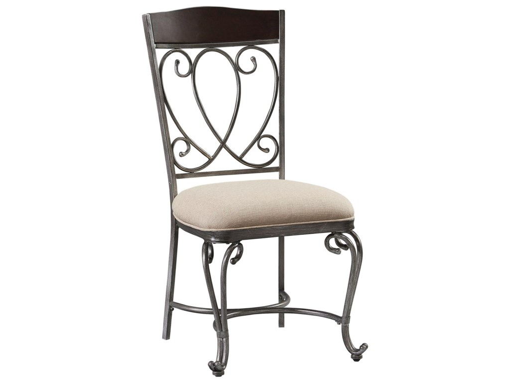 About A Chair 12 Side Chair.Standard Furniture Cyprus 12944 Side Chair With Scrolled Metal Back