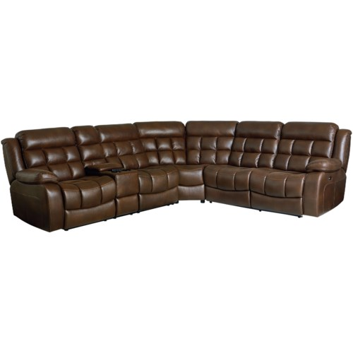 4 Seat Power Reclining Sectional Sofa With Massage Heat