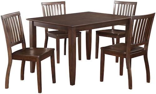 Standard Furniture Fairfax Classic Leg Table and Four Chairs Set