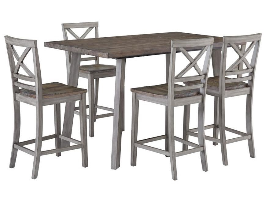 Standard Furniture Fairhaven 12872 Rustic Counter Height Table and ...