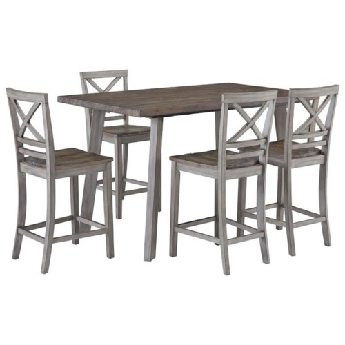 standard furniture fairhaven rustic counter height table and four