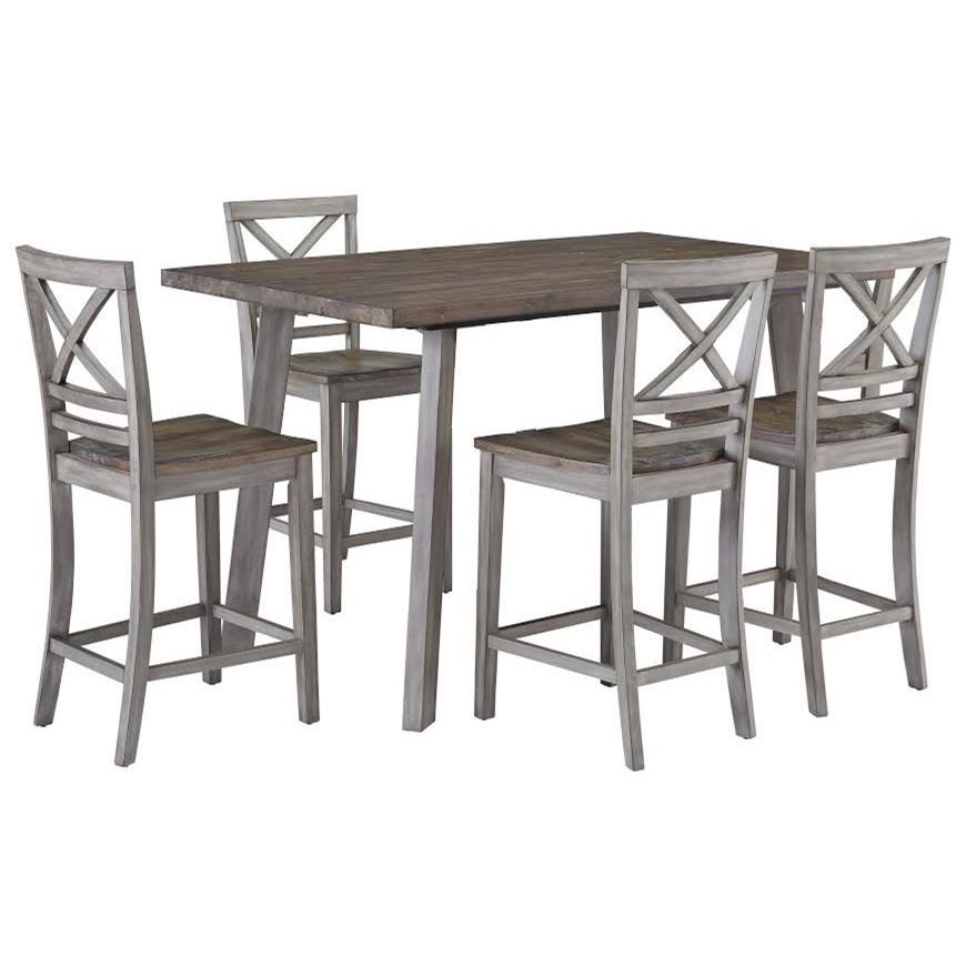Ordinaire Fairhaven Rustic Counter Height Table And Four Chair Set By Standard  Furniture