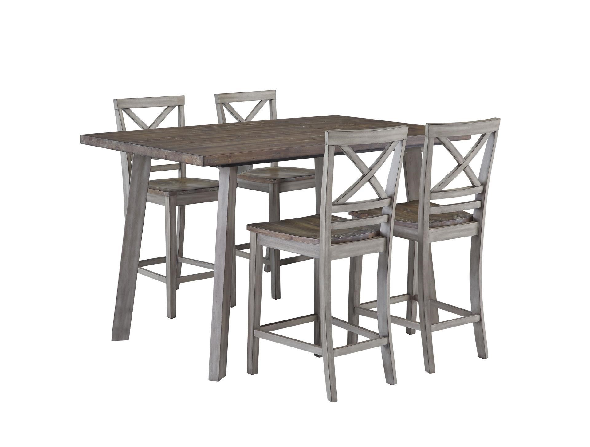 Standard Furniture FairhavenCounter Table u0026 Chair Set ...  sc 1 st  Great American Home Store & Standard Furniture Fairhaven 12872 Counter Table u0026 4 Counter Chairs ...
