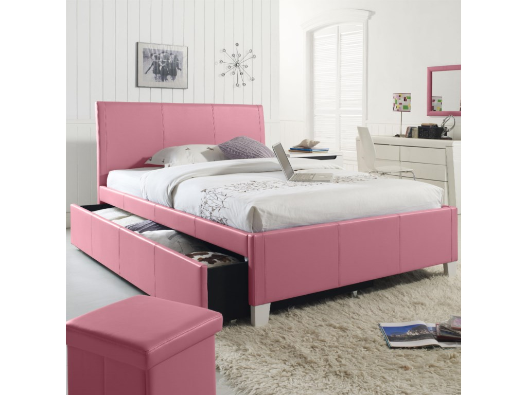 Trundle Bed.Fantasia Twin Upholstered Youth Trundle Bed By Standard Furniture At Dunk Bright Furniture