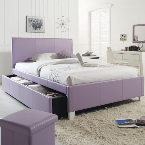 Standard Furniture Fantasia Twin Upholstered Youth Trundle Bed