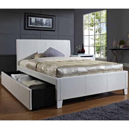 Twin Upholstered Trundle Bed