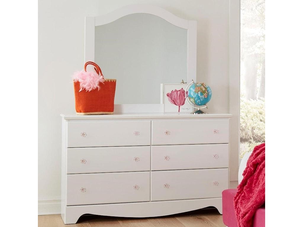 Standard Furniture Gabby Traditional 6 Drawer Dresser And Mirror Set