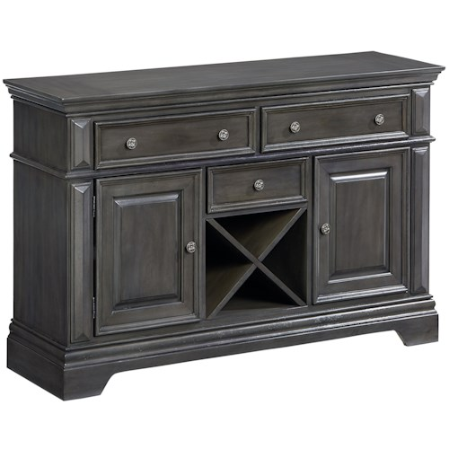 Standard Furniture Garrison Traditionally Styled Buffet with Grey Finish