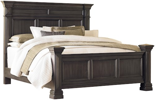 Standard Furniture Garrison Queen Panel Bed with Smooth Grey Finish