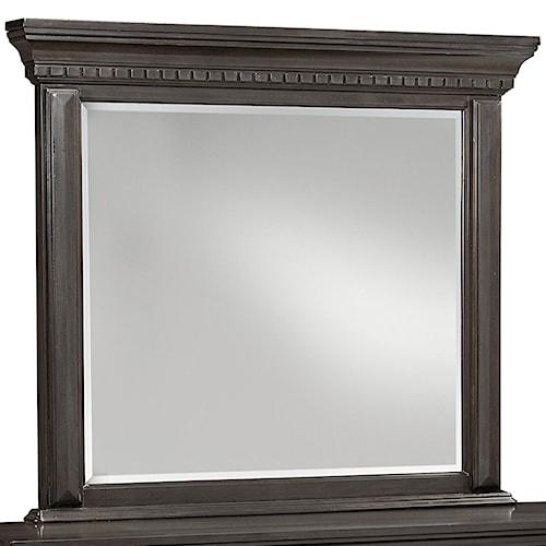 Standard Furniture Garrison Traditional Mirror with Grey Finish