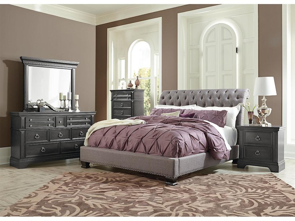 Standard Furniture GarrisonKing Upholstered Bed