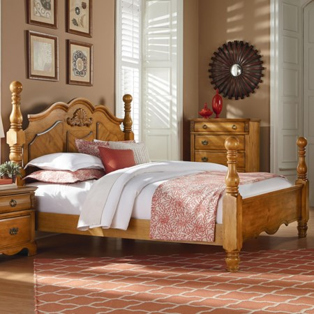 Traditional Cannonball Poster Queen Bed