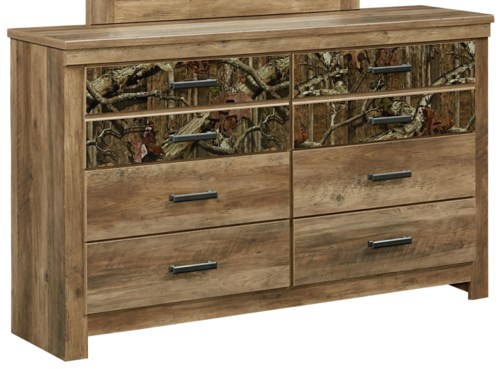 Standard Furniture Habitat 6 Drawer Dresser With Camouflage Print