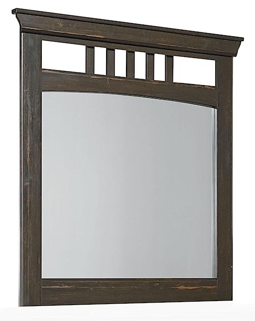 Standard Furniture Hampton Rustic Mirror with Open Slats
