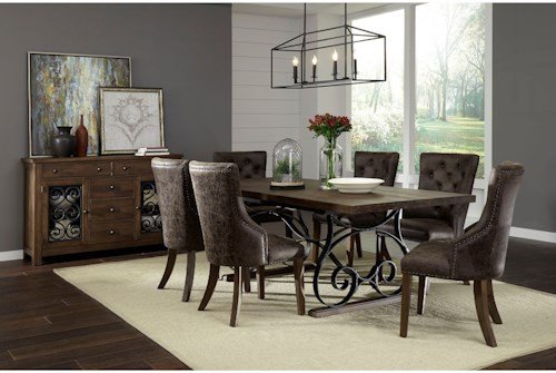 Standard Furniture Hawkins Dining Room Group With Six Chairs
