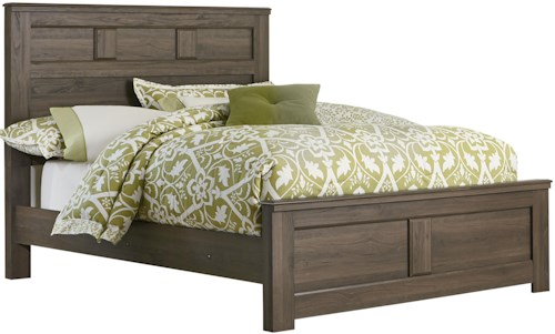 Standard Furniture Hayward Queen Panel Bed with Raised Panels