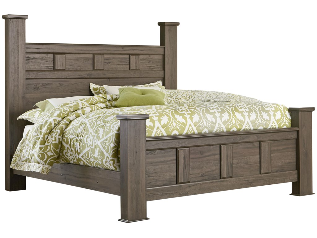 Standard furniture haywardqueen poster bed
