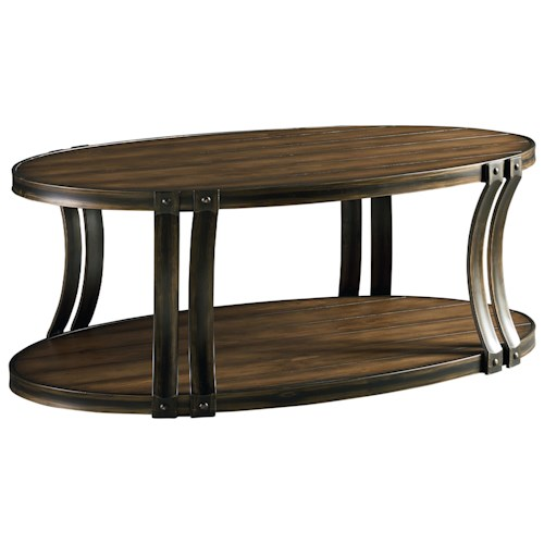 Standard Furniture Huntington Oval Cocktail Table with Curved Legs