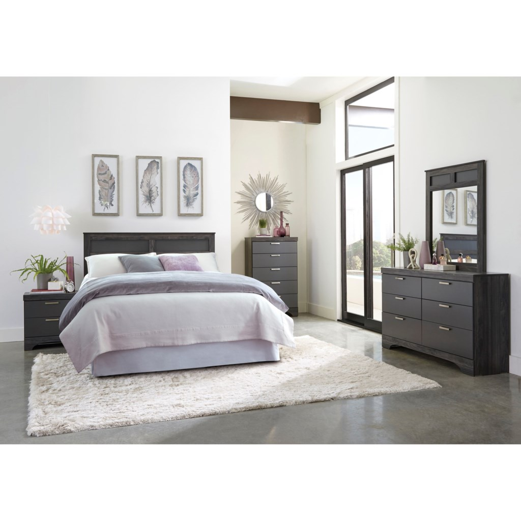 Image result for STANDARD FURNITURE BEDROOM SET IRVINE DARK GREY