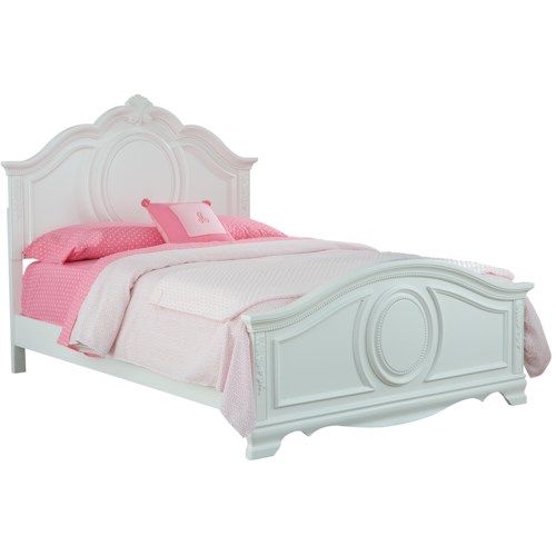 Standard Furniture Jessica Twin Bed with Beaded Pearl Trim