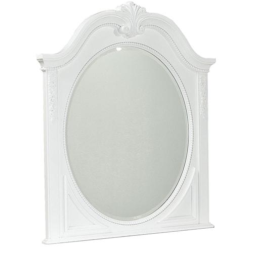 Standard Furniture Jessica Decorative Oval Shaped Mirror
