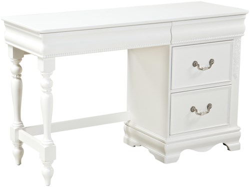 Standard Furniture Jessica Single Pedestal Desk with 3 Drawers